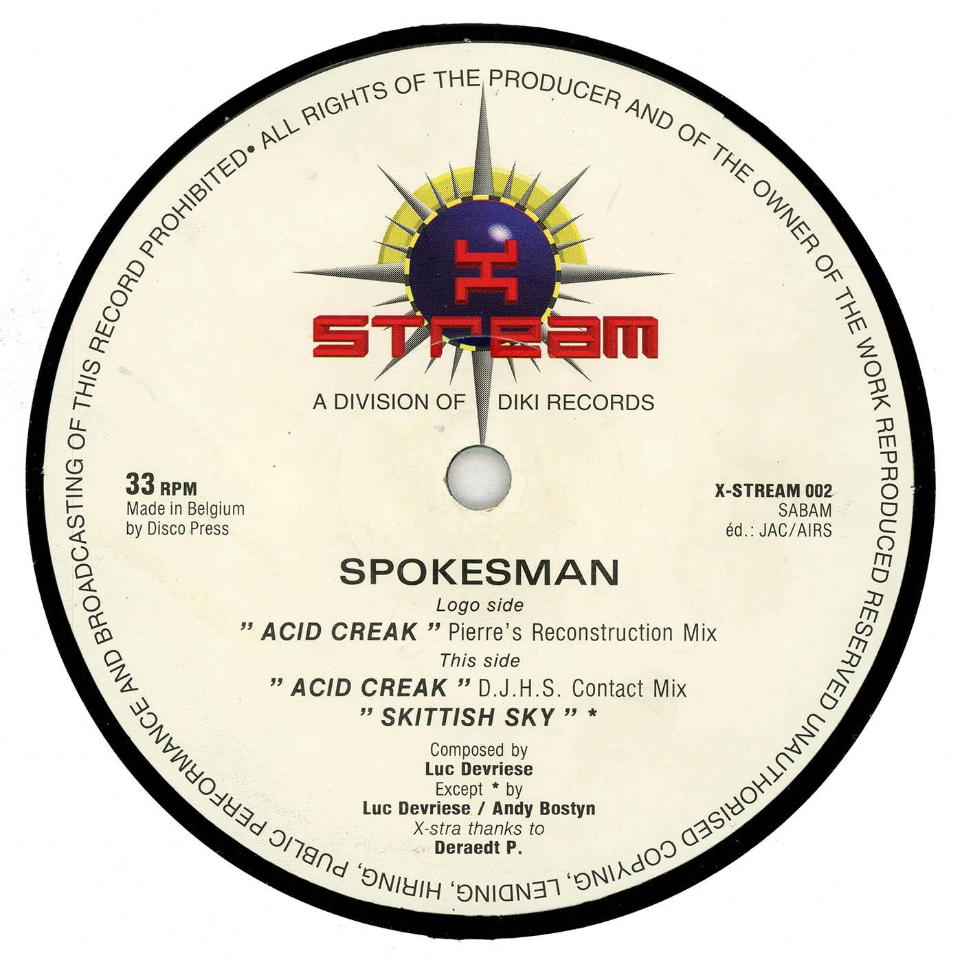 ACID CREAK — SPOKESMAN